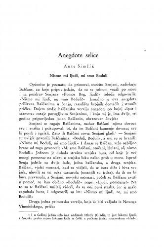 Anegdote selice / A. Šimčík