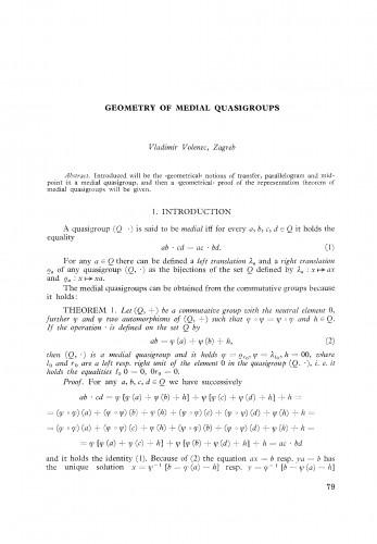 Geometry of medial quasigroups