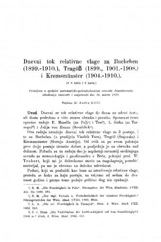 Dnevni tok relativne vlage za Bucheben (1899-1910.), Tragöss (1899., 1901.-1908.) i Kremsmünster (1904.-1910.)