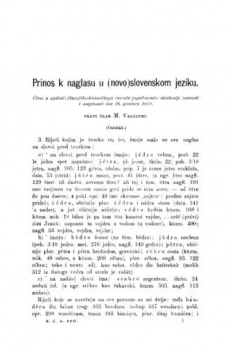 Prinos k naglasu u (novu)slovenskom jeziku : RAD
