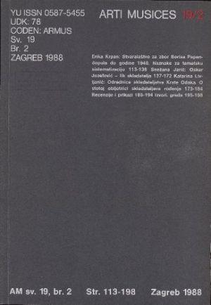 God. 19(1988), br. 2 : Arti musices