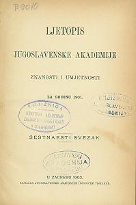 Za godinu 1901. Sv. 16 : Ljetopis