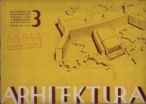 Konkursna skica za tipiziranu kuću u Beogradu : Arhitektura