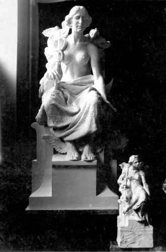 Valdec, Rudolf (1872-1929) : Model alegorije Trgovine (Merkur) za Trgovačko-obrtničku komoru u Zagrebu