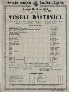Veseli baštinici opereta u tri čina / od Karla Weinbergera