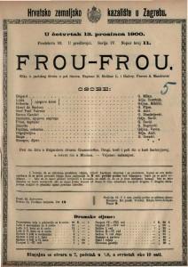 Frou-Frou slika iz pariskog života u pet činova / napisao H. Meilhac i L. Halévy