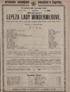 Lepeza lady Windermerove drama jedne dobre žene u četiri čina