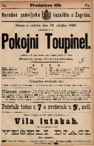Pokojni Toupinel : Lakrdija u 3 čina