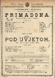 Primadona Komedija u 3 čina / napisao M. Primorac