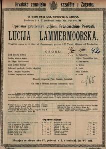 Lucija Lamermoorska tragična opera u tri čina / glazba od Donizzetia