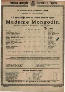 Madame Mongodin komedija u tri čina / od Ernesta Bluma i Raoula Tochéa