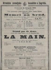 Momci na brod opereta u jednom činu / od Ivana pl. Zjca
