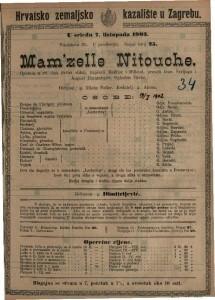Mam'zelle Nitouche opereta u tri čina (četiri slike), napisali Meilhac i / napisali Meilhac i Millaud