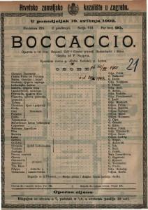 Boccaccio : opereta u tri čina / glazba od F. Suppé-a