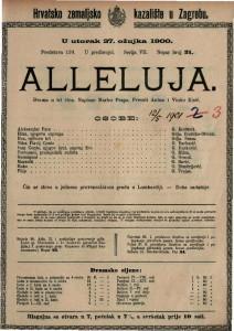 Alleluja : drama u tri čina / napisao Marko Praga