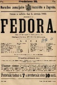 Fedora Drama u 4 čina / napisao V. Sardou
