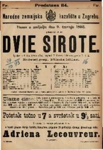 Dvie sirote Igrokaz u 4 čina (osam slika) / napisali D'Ennery i Corman