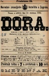 Dora Parižka slika u 5 činah / od V. Sardou-a