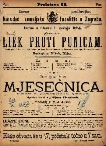 Liek proti punicam ; Mjesečnica : Vesela igra u 1 činu: Komična opereta u 1 činu / od Dr. Fastenratha / Uglasbio Ivan pl. Zajc