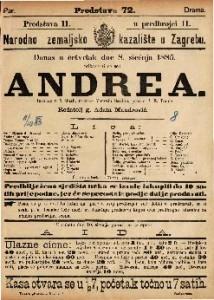 Andrea Igrokaz u 5 činah / napisao Victorin Sardou