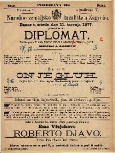 Diplomat vesela igra u 2 čina / napisao Scribe i Delavigne