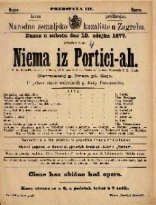 Niema iz Portici-ah velika historička opera u 5 činah / glasba od Aubera