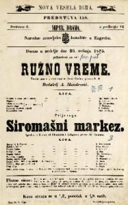 Ružno vreme ; Siromašni markez Vesela igra u 1 činu ; Igrokaz u 2 čina / napisao Leon Gozlan