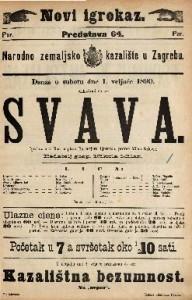 Svava Igrokaz u 3 čina / napisao Björnstjerne Björnson