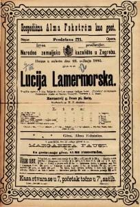 Lucija Lammermoorska Tragička opera u 3 čina / Glasba od Caetana Donizettia