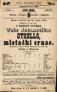 Othello, mletački crnac žalobna igra u 5 činah / od Wiliama Shakespeara