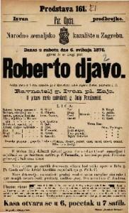 Roberto djavo velika opera u 5 čina / uglasbio ju J Mayerbeer