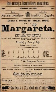 Margareta (Faust) opera u 5 činah / Glasba od T. Gounoda