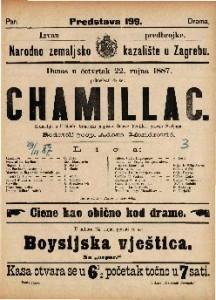 Chamillac Komedija u 5 činah / francezki napisao Octave Fauillet