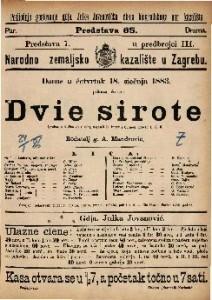 Dvie sirote : Igrokaz u 4 čina (8 slikah) / napisali D'Enery i Cormon