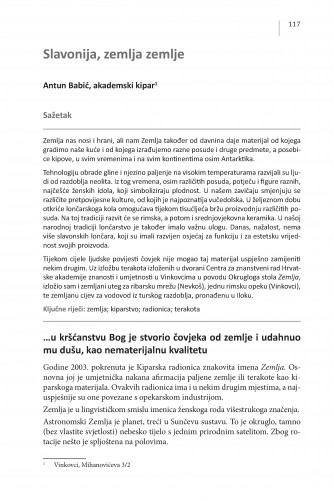 Slavonija, zemlja zemlje : Posebna izdanja / Hrvatska akademija znanosti i umjetnosti, Centar za znanstveni rad u Vinkovcima