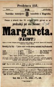 Margareta / Faust Opera u 5 činah / Napisao polag Goethe-a Julio Barbier i M. Carre ; Glasba od T. Gounoda