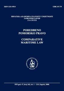 Br. 162(2008) = vol. 47 : Poredbeno pomorsko pravo