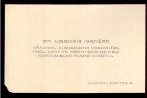 Dr. Ljudevit Ivančan kanonik, arhidjakon vrbovački, nasl. opat sv. Margarete od Bele ; komtur reda Franje Josipa I