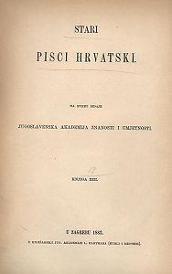 Dio 2 : Drame : Stari pisci hrvatski