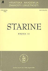 Knj. 61 (2000) : Starine