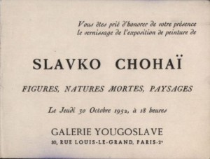 Slavko Chohai - figures, natures mortes, paysages