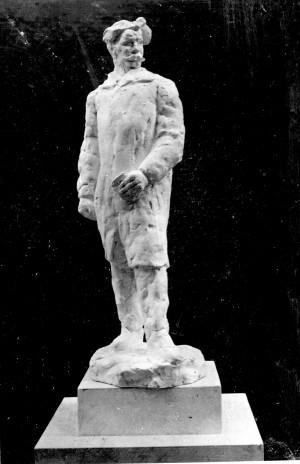 Bakić, Vojin (1915-1992) : Skica za spomenik Silviju Strahimiru Kranjčeviću - I.