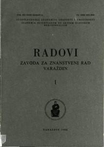Knj. 1(1986) : Radovi Zavoda za znanstveni rad Varaždin