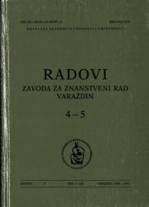Knj. 4-5 (1990/1991) : Radovi Zavoda za znanstveni rad Varaždin