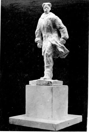 Bakić, Vojin(1915-1992): Skica za spomenik Silviju Strahimiru Kranjčeviću II ]
