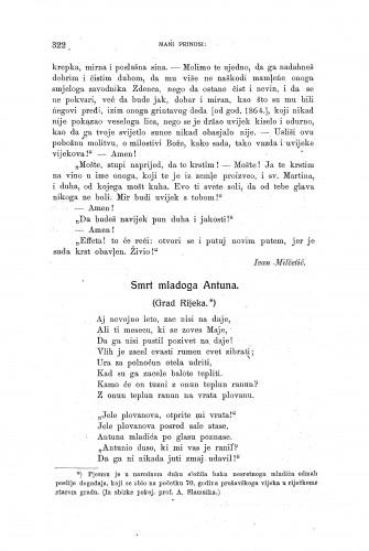 Smrt mladoga Antuna : (Grad Rijeka) / A. Slamnik