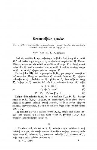 Geometrijske opazke : RAD