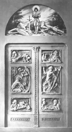 Valdec, Rudolf: Skica vratnica s motivima 4 evanđelista za grob biskupa Juraja Dobrile ]