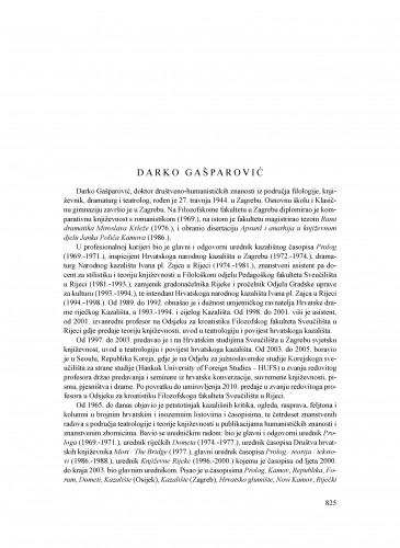 Darko Gašparović : Ljetopis