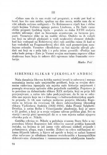 Šibenski slikar Vjekoslav Andrić : Bulletin Zavoda za likovne umjetnosti Jugoslavenske akademije znanosti i umjetnosti